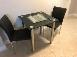 2-SEATER TABLE SET - RARELY USED - ONLY 2 MONTHS OLD