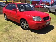 2004 Hyundai Accent LC MY04 GL Red 4 Speed Automatic Hatchback Wangara Wanneroo Area Preview