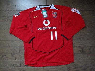 Urawa Red Diamonds Reds #11 100% Original Soccer Jersey XL BNWT 2005 J-League LS image