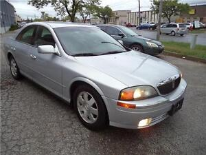 2002 Lincoln LS w/Convenience Pkg VERY LOW 62000 KM RUNS EXCELLE