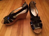 Black Guess Sandals size 7.5 - never worn