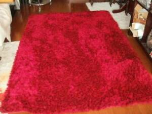 Hand tufted silky soft  low pile shag rug  2300 x1600