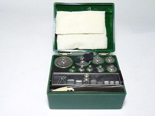 Ainsworth  calibration weight set 17 +2 + bakelite case + tweezers