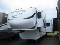 Wow! Northridge 32' Fifth Wheel with 3 Slides, Rear Living!