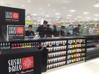 SUSHI CHEFS OF ALL LEVELS - NEW SUSHI BAR INSIDE KIDLINGTON SAINSBURY