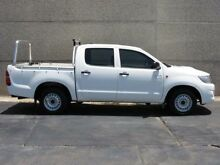 2011 Toyota Hilux KUN16R MY11 Upgrade SR White 5 Speed Manual Dual Cab Pick-up Condell Park Bankstown Area Preview