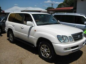2004 Lexus LX470 UZJ100R Pearl White Automatic Wagon Woodend Ipswich City Preview