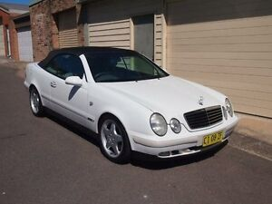 1998 Mercedes-Benz CLK320 A208 Elegance White 5 Speed Automatic Cabriolet Petersham Marrickville Area Preview