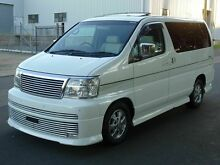 2001 Nissan Elgrand E50 Rider White 4 Speed Automatic Wagon Taren Point Sutherland Area Preview