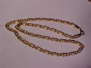 "7100-18k YELLOW GOLD PUFFED CHAIN   19 1/2"" LONG 12.44 GRAMS OF BRILLIANT 18K GOLD-LAYAWAY AVAILABLE FREE SHIPPING"