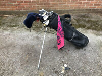 Set of golf clubs PGA 2000 Series Cleek and Maxfly DP30 with Bag & accessories