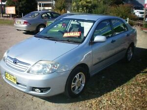 2005 Toyota Corolla ZZE122R Ascent Blue 5 Speed Manual Sedan Heatherbrae Port Stephens Area Preview