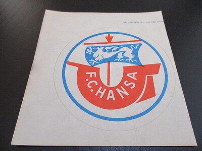 090616 original DDR Oberliga Aufkleber FC Hansa Rostock aus DDR Zeiten