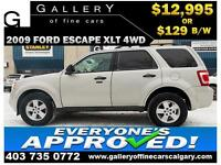 2009 Ford Escape XLT 4WD $129 bi-weekly APPLY NOW DRIVE NOW