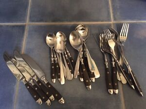 assorted stainless steel cutlery