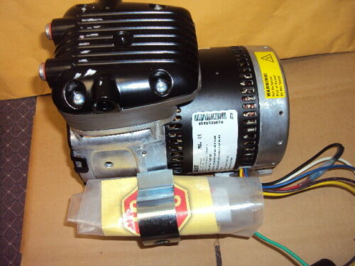 GAST 86R123-101-N170X Rocking Piston Vacuum Pump , 1/8 HP , 115/230 V , 125 PSI