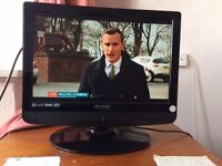 Television flat screen 19 inch freeview and remote