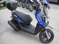 1 Year Warranty Preowned Yamaha BW125 Scooter w/extras certified
