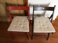 IKEA Terje folding wooden chairs