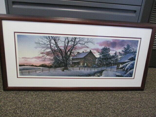 Richard Bollinger Evening Song Framed Matted Signed Print