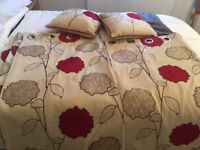 Pair of Dunelm Curtains with matching cushions