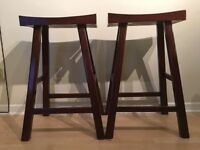 2 Solid Wood Bar Stools for sale