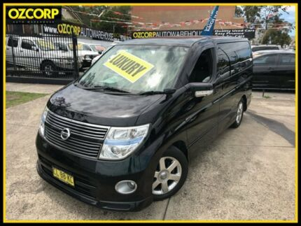 2009 Nissan Elgrand E51 Highway Star Black 5 Speed Automatic Wagon
