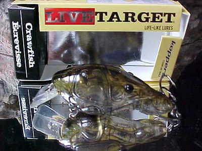 Koppers Live Target Crawfish 2 3 8  1 2 Oz Dive 3 4 Csb60s350 Ghost Green