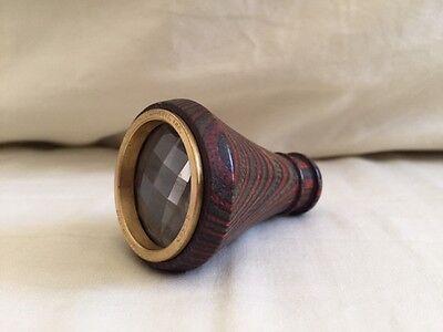 Van Cort Instruments 1987 Dragonfly Prism Wooden Kaleidoscope Prism Wood/Brass