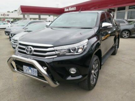 2016 Toyota Hilux GUN126R SR5 Double Cab Black/Grey 6 Speed Sports Automatic Utility Footscray Maribyrnong Area Preview