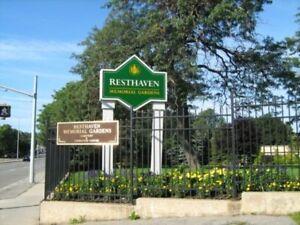 Resthaven burial plot