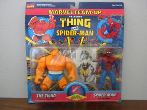 vintage Thing and Spiderman action figures IN PACKAGE!