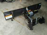 """42"""" Garden tractor plow blade with """"2000lb winch"""""""