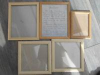 Picture Frames -Light Wood Bundle