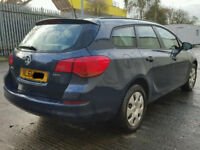 VAUXHALL ASTRA J / MK 6 ESTATE DRIVERS REAR DOOR IN BLUE 2011 RING FOR MORE INFO