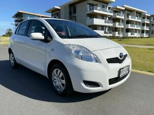 2009 Toyota Yaris NCP90R MY10 YR White 5 Speed Manual Hatchback Somerton Park Holdfast Bay Preview