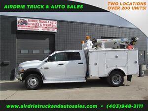2011 Ram 5500 SLT 4x4 Service Body Crane  Vmac LOW KMS DIESEL!!