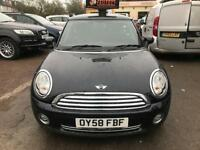 2009 MINI ONE 1.4, AUTOMATIC, BLACK, VERY LOW MILEAGE, RARE. ( Pepper )
