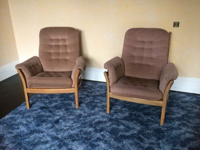 Ercol Armchairs x 2 (early 1980s)