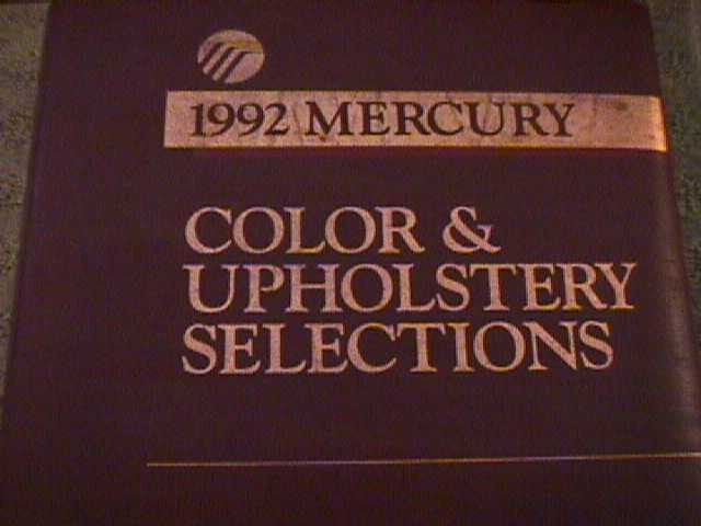 SCARCE 1992 MERCURY DEALER COLOR AND UPHOLSTERY SHOWROOM ALBUM