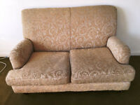 Beige/Champaign Settee - 2 Seater (SM2 6LN)
