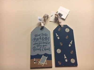 PRIMITIVES BY KATHY WINE TAGS- WINE TASTES MUCH BETTER- FROM BEACH CHAIR