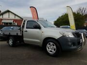2012 Toyota Hilux TGN16R MY12 Workmate Silver 5 Speed Manual Cab Chassis Mount Hawthorn Vincent Area Preview