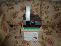 Hanimex slide projector and screen