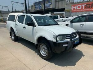 2011 Mitsubishi Triton MN MY12 GLX Double Cab White 5 Speed Manual Utility Granville Parramatta Area Preview