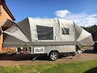 2016 Opus folding camper trailer tent in Grey/Silver