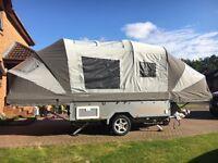 2016 Opus folding camper trailer tent in Grey/Silver