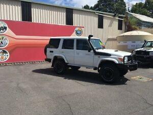 2012 Toyota Landcruiser VDJ76R MY10 Workmate White 5 Speed Manual Wagon Gosford Gosford Area Preview