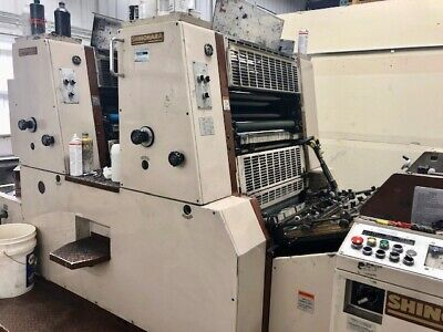 1990 Shinohara 66-2p Two-color Offset Printing Press Heidelberg Komori. Running