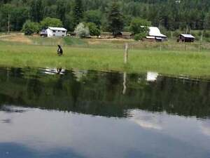 3Bdrm/2Bth Country Home on 154 Acres, Barriere WATERFRONT
